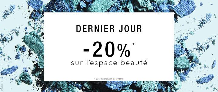 -20% sur l'espace beauté