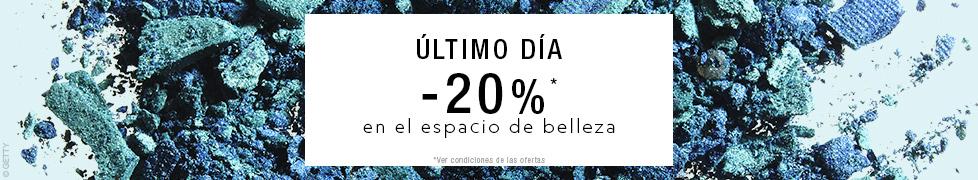 -20% SUR L'ESPACE BEAUTE