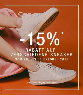 OFFRE -15% SUR LES SNEAKERS DU 27 AU 29 OCTOBRE 2016