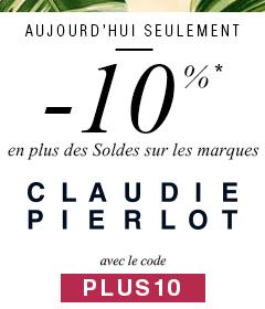-10% en plus des soldes sur CLAUDIE PIERLOT avec le code PLUS10